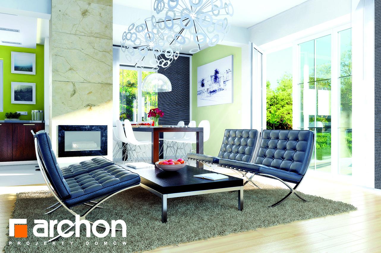 Проект будинку ARCHON+ Будинок в аспарагусах (ПН) вер.2 денна зона (візуалізація 1 від 1)