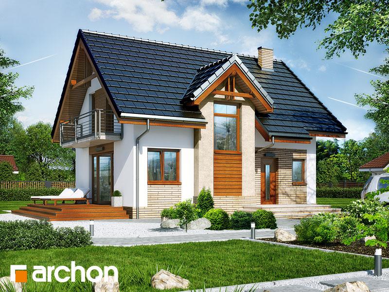 Проект будинку ARCHON+ Будинок в солодках 4 ver.2 стилізація 3