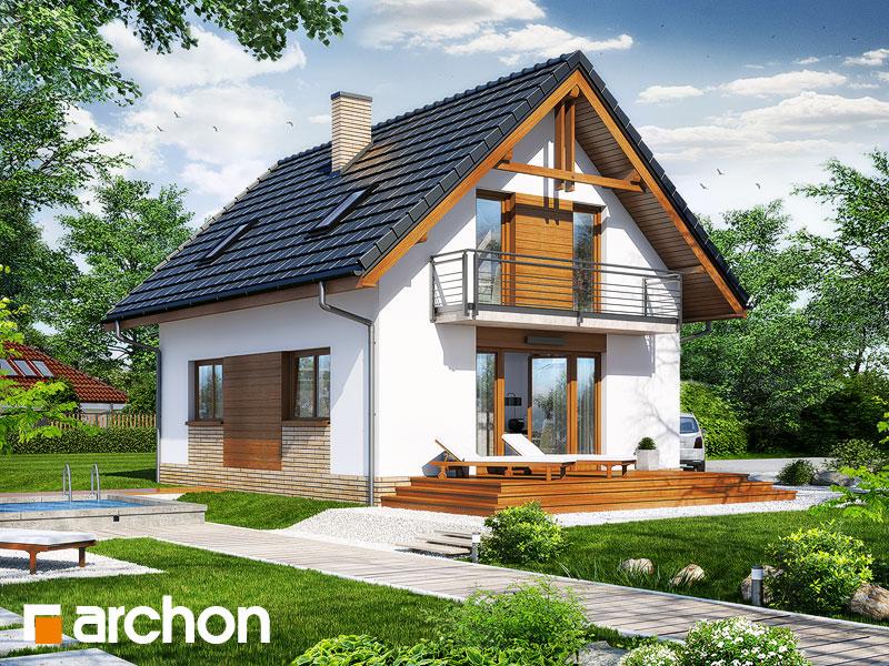 Проект будинку ARCHON+ Будинок в солодках 4 ver.2 стилізація 4