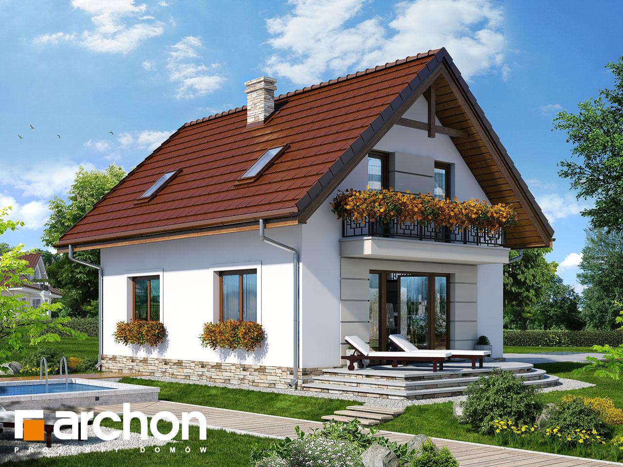 Проект будинку ARCHON+ Будинок в солодках 4 ver.2 Вид 2