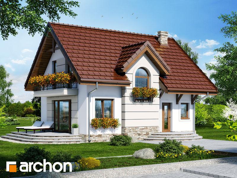 Проект будинку ARCHON+ Будинок в солодках 4 ver.2 Вид 1