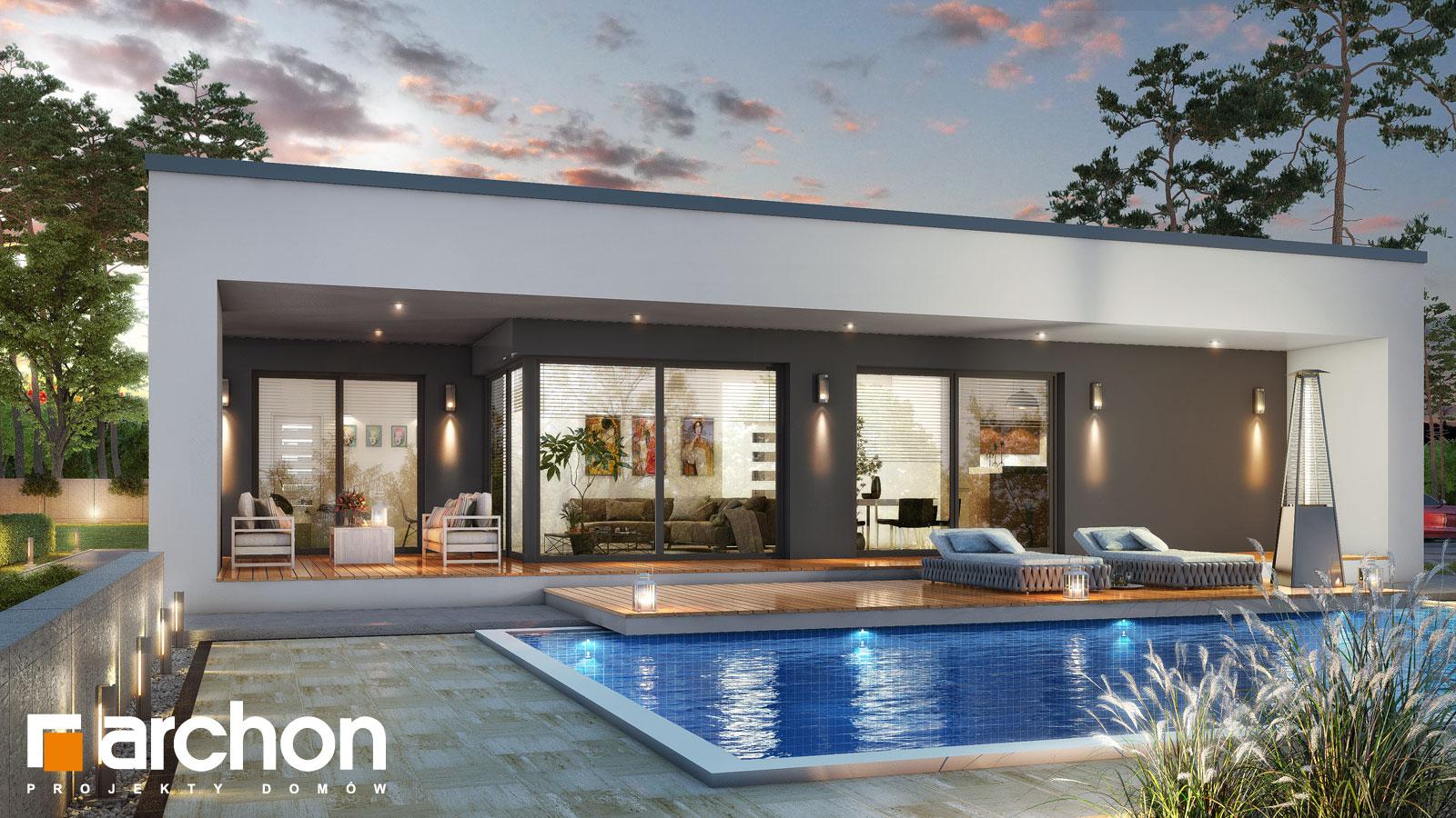 Проект будинку ARCHON+ Будинок в матуканах додаткова візуалізація