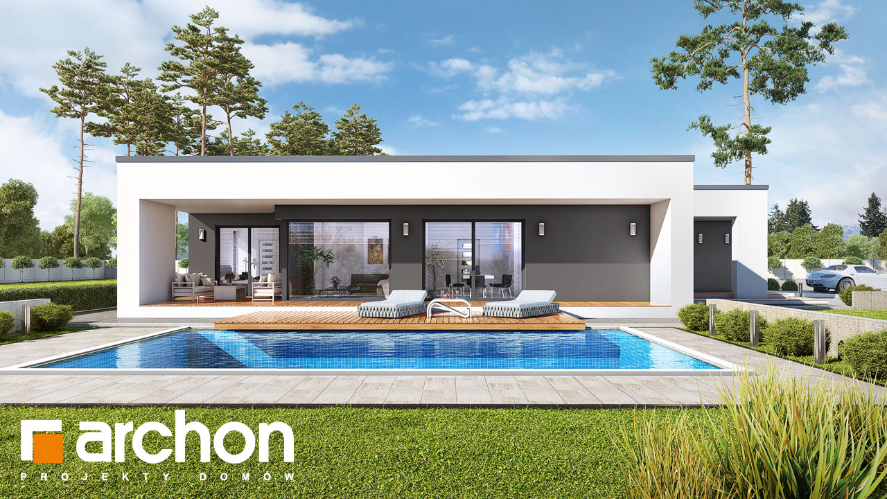Проект будинку ARCHON+ Будинок в матуканах Вид 2