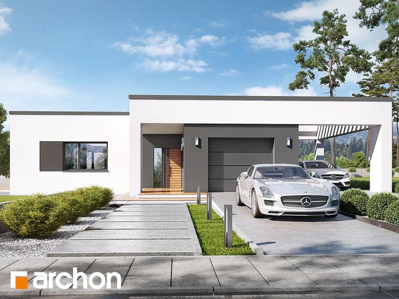 Проект будинку ARCHON+ Будинок в матуканах Вид 1