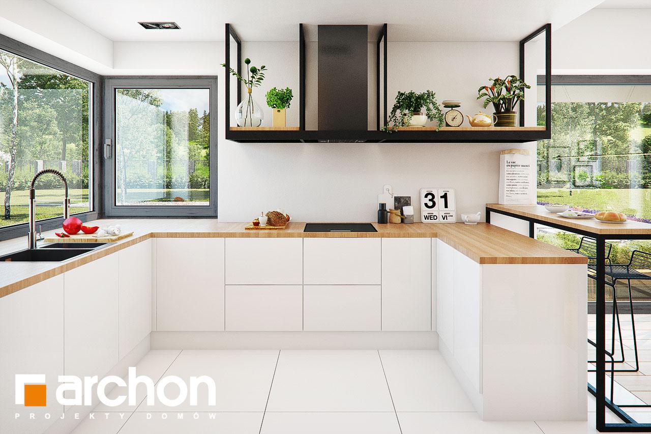 Проект будинку ARCHON+ Будинок у телімах (Г2) візуалізація кухні 1 від 1