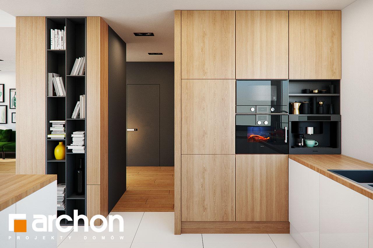 Проект будинку ARCHON+ Будинок у телімах (Г2) візуалізація кухні 1 від 2