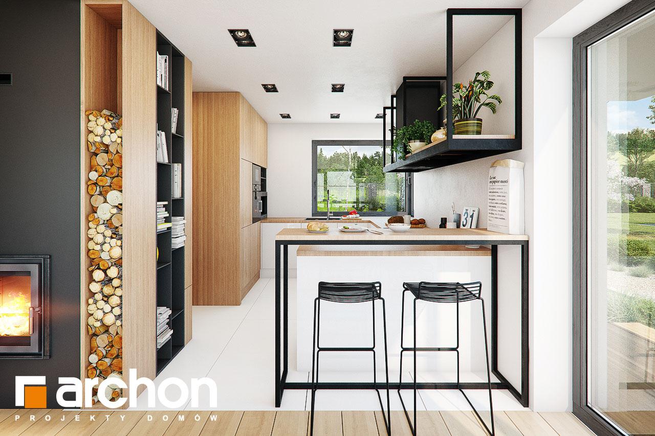 Проект будинку ARCHON+ Будинок у телімах (Г2) візуалізація кухні 1 від 3