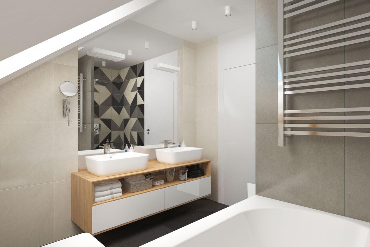 Проект будинку ARCHON+ Будинок у телімах (Г2) візуалізація ванни (візуалізація 3 від 1)