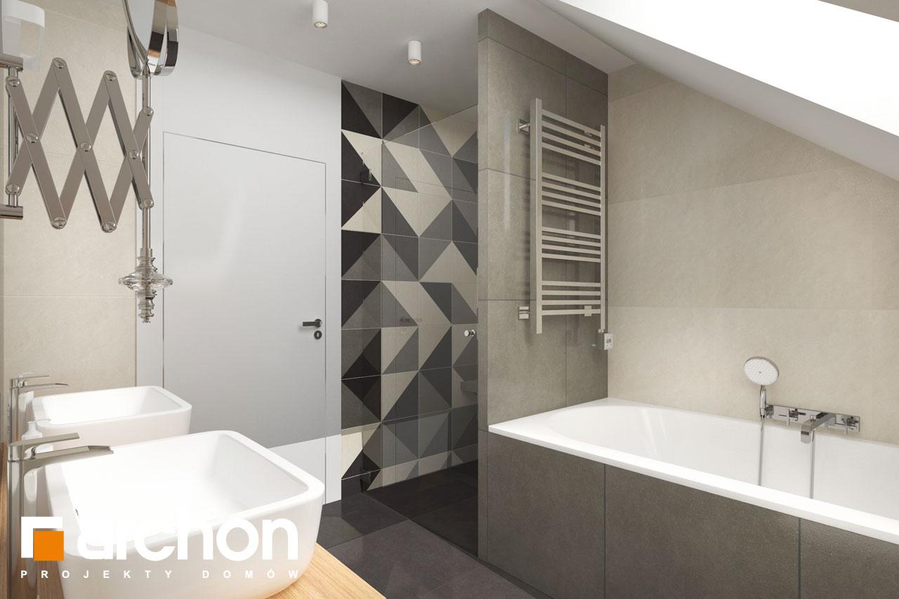 Проект будинку ARCHON+ Будинок у телімах (Г2) візуалізація ванни (візуалізація 3 від 2)