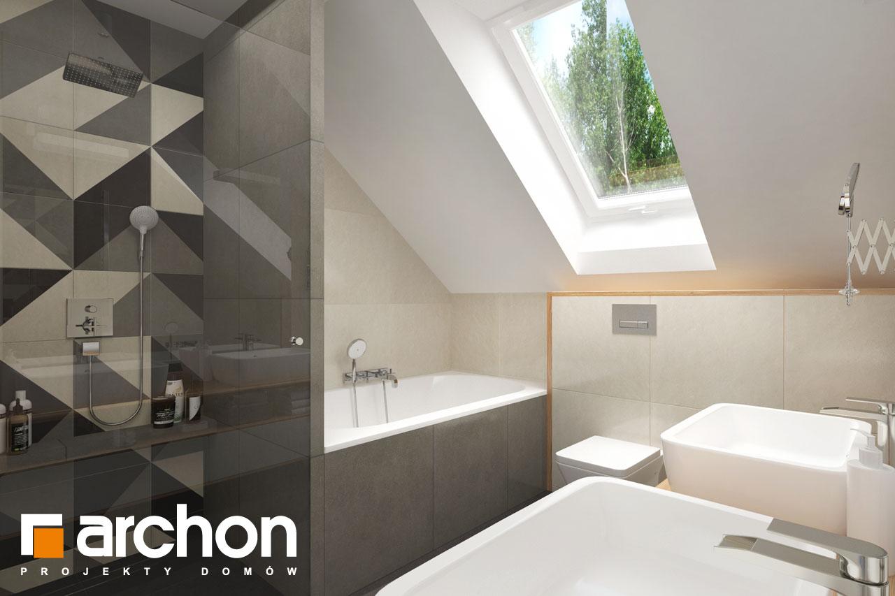 Проект будинку ARCHON+ Будинок у телімах (Г2) візуалізація ванни (візуалізація 3 від 3)