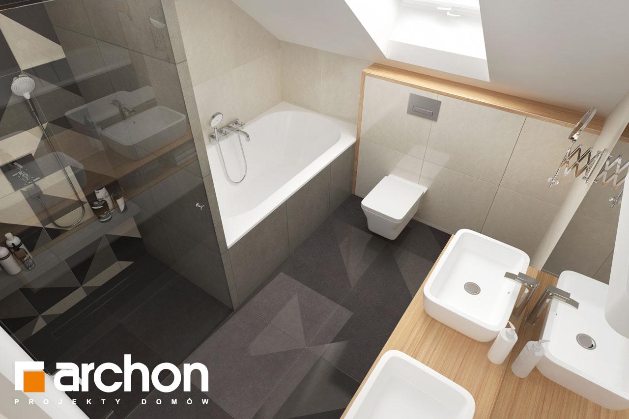 Проект будинку ARCHON+ Будинок у телімах (Г2) візуалізація ванни (візуалізація 3 від 4)