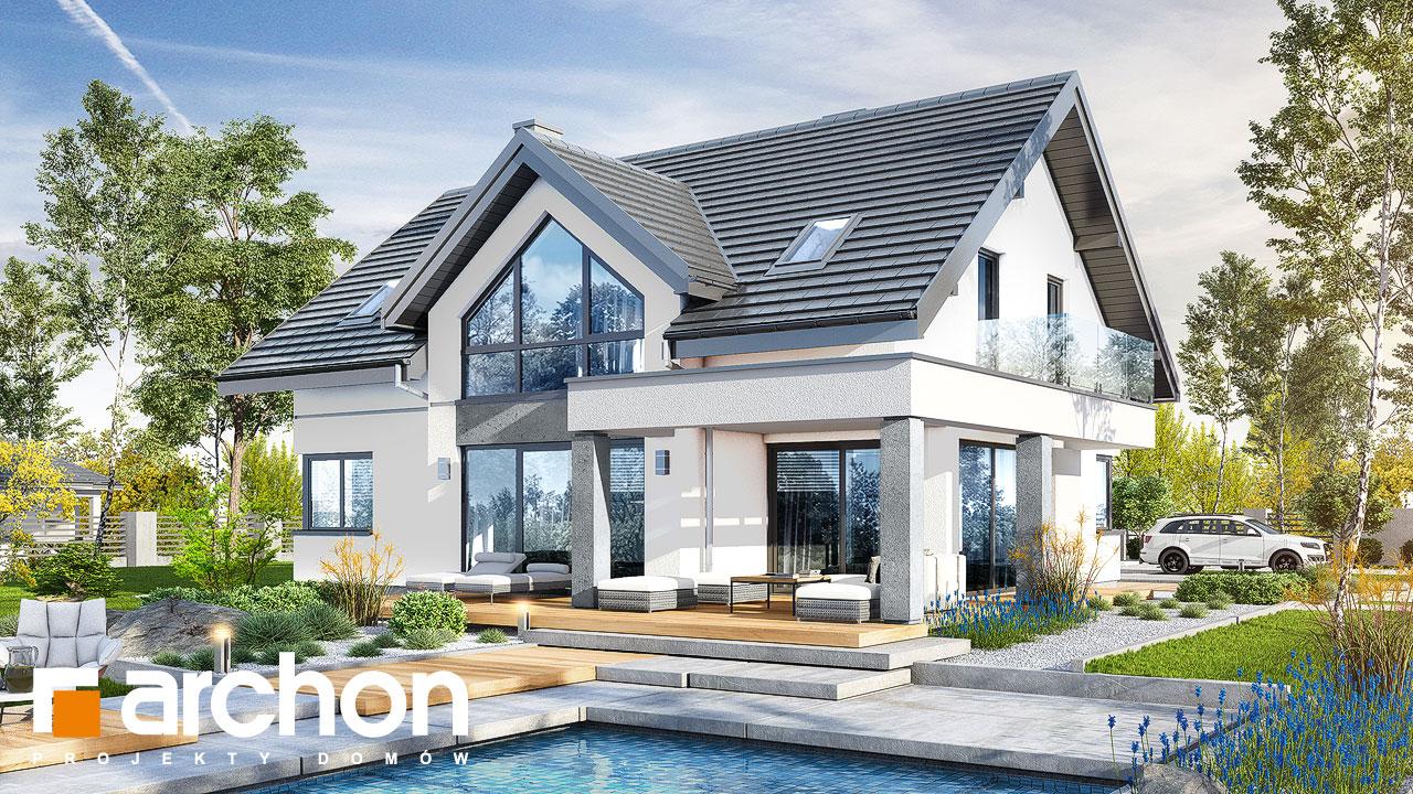 Проект будинку ARCHON+ Будинок у телімах (Г2) Вид 2