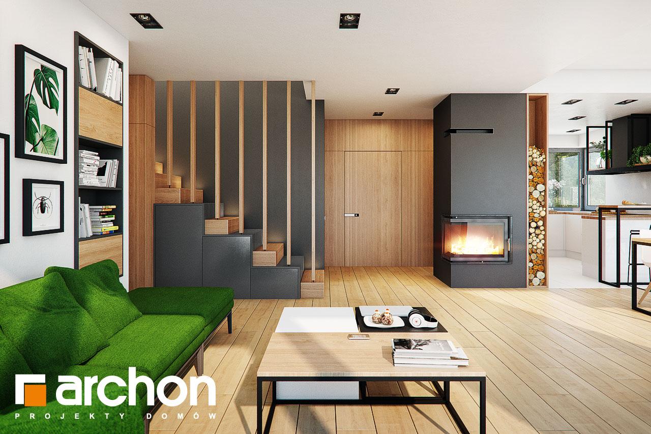 Проект будинку ARCHON+ Будинок у телімах (Г2) денна зона (візуалізація 1 від 1)