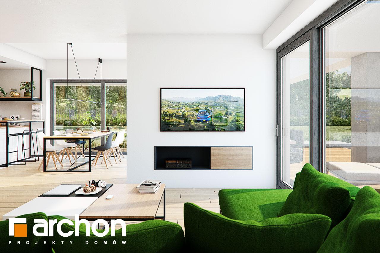 Проект будинку ARCHON+ Будинок у телімах (Г2) денна зона (візуалізація 1 від 2)