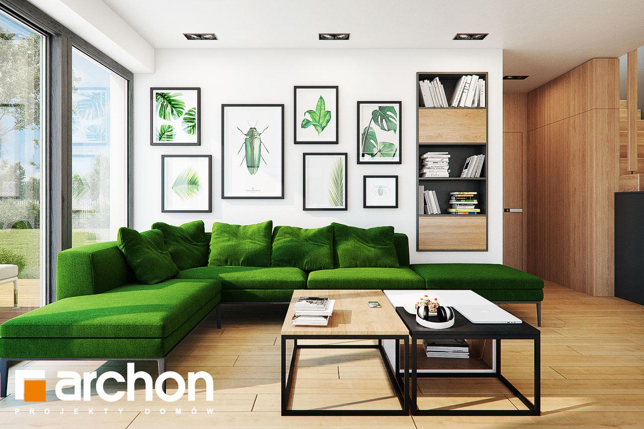 Проект будинку ARCHON+ Будинок у телімах (Г2) денна зона (візуалізація 1 від 3)