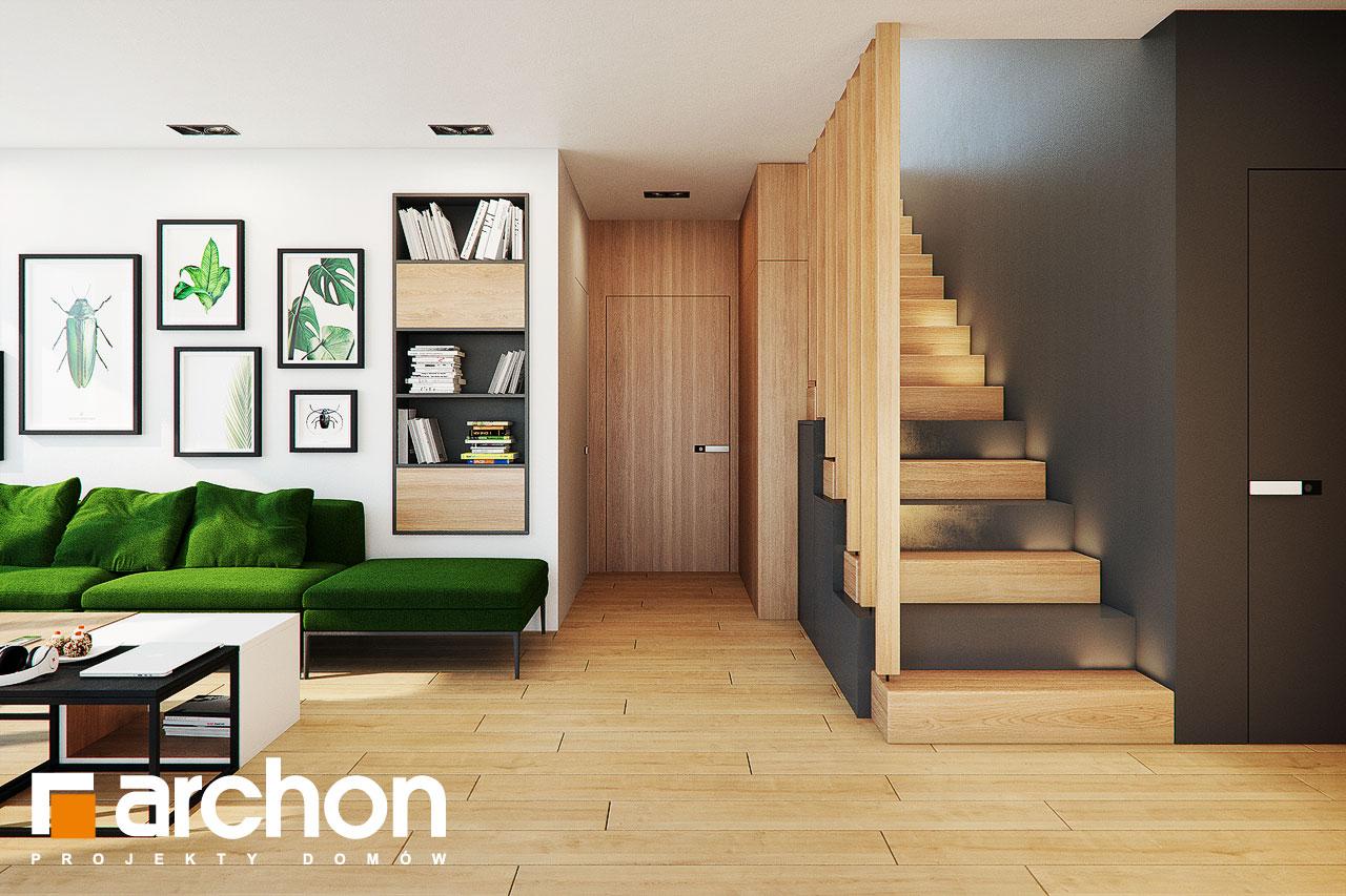 Проект будинку ARCHON+ Будинок у телімах (Г2) денна зона (візуалізація 1 від 4)