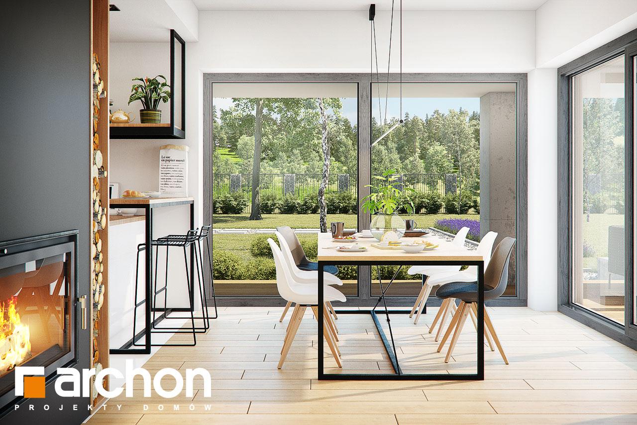 Проект будинку ARCHON+ Будинок у телімах (Г2) денна зона (візуалізація 1 від 5)