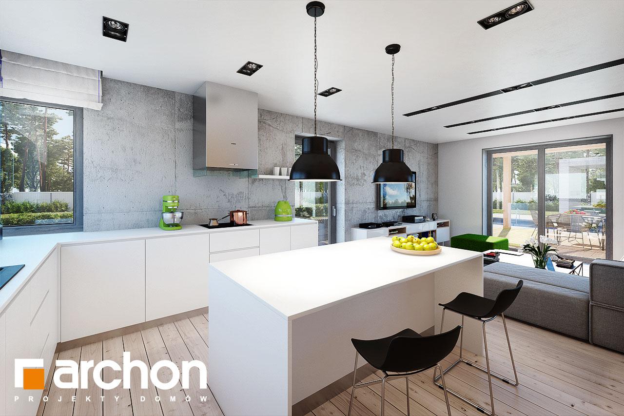 Проект будинку ARCHON+ Будинок в силені (Г) візуалізація кухні 1 від 2