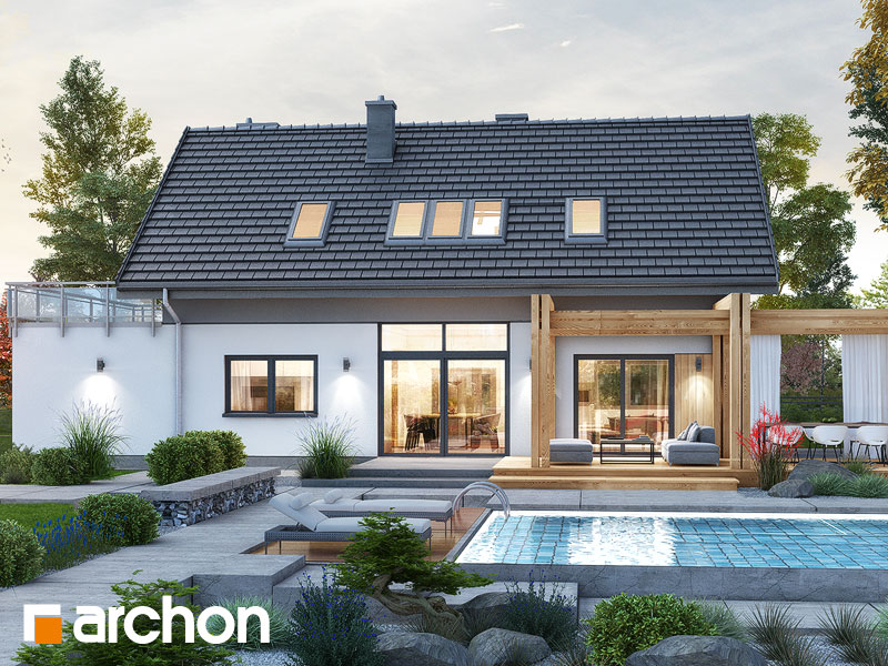 Проект будинку ARCHON+ Будинок в силені (Г) Вид 1
