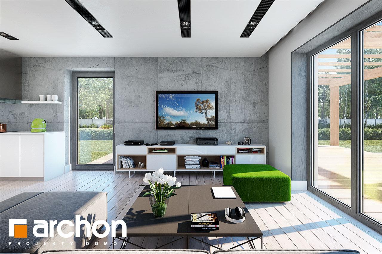 Проект будинку ARCHON+ Будинок в силені (Г) денна зона (візуалізація 1 від 2)