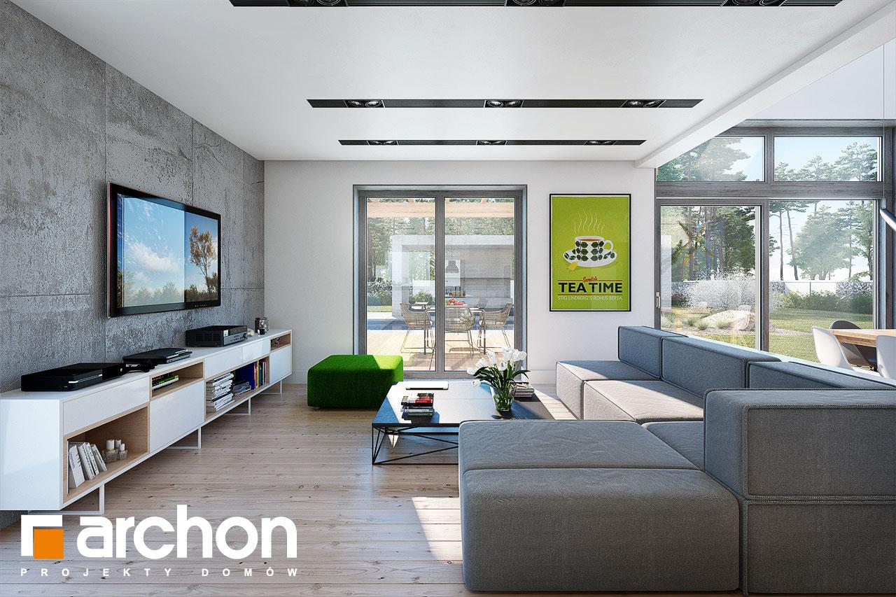Проект будинку ARCHON+ Будинок в силені (Г) денна зона (візуалізація 1 від 3)