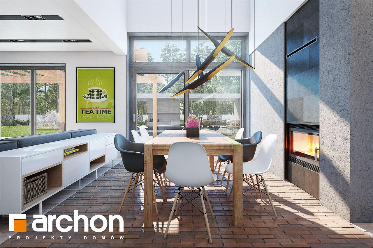 Проект будинку ARCHON+ Будинок в силені (Г) денна зона (візуалізація 1 від 4)