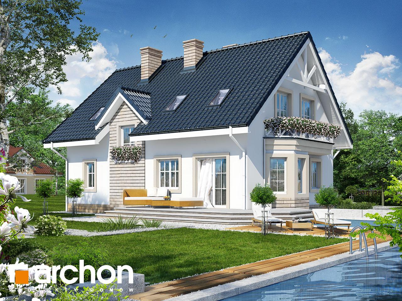 Проект дома ARCHON+ Дом в сапфирах вер.2 Вид 2