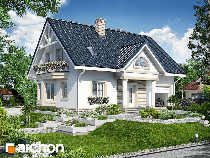 Проект дома ARCHON+ Дом в сапфирах вер.2 Вид 1
