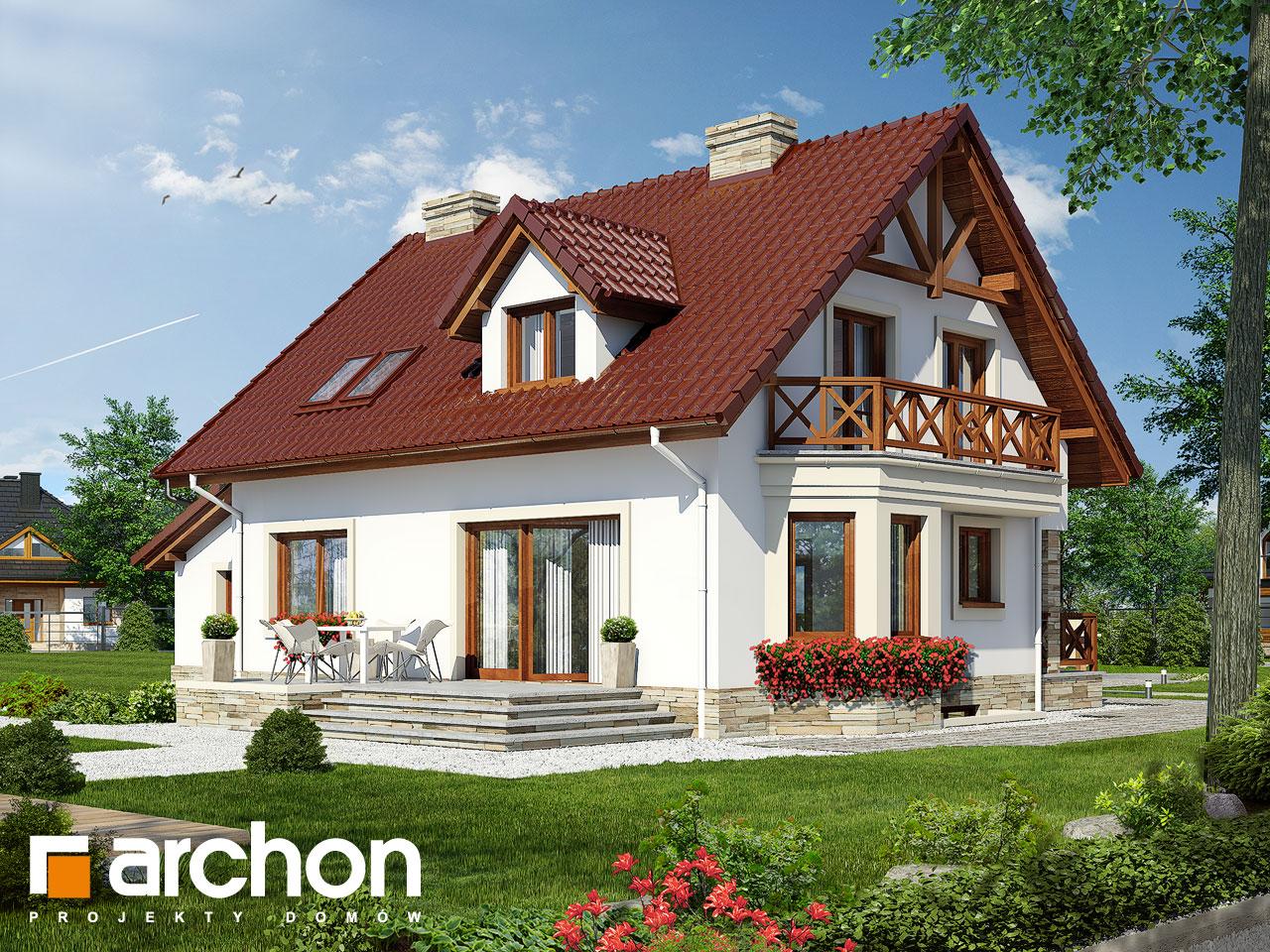 Проект будинку ARCHON+ Будинок в деванні 2 (п) ver.3 Вид 2