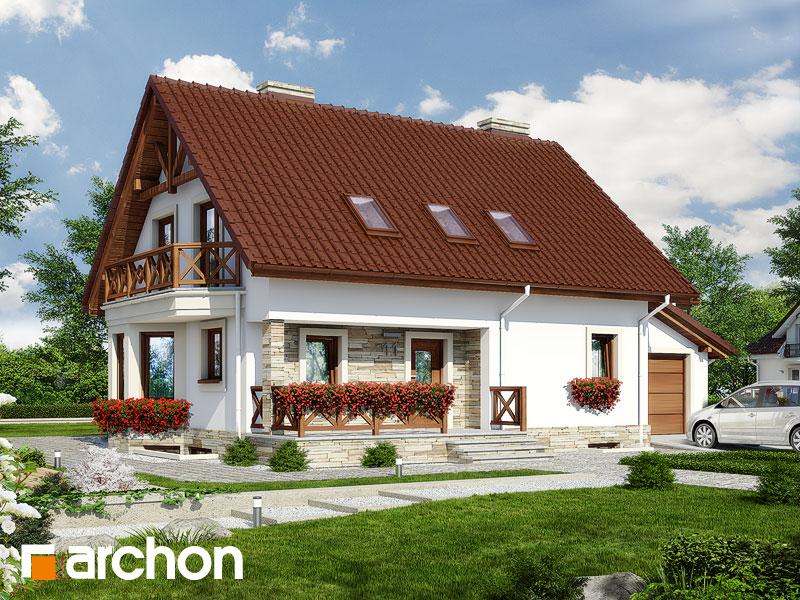 Проект будинку ARCHON+ Будинок в деванні 2 (п) ver.3 Вид 1
