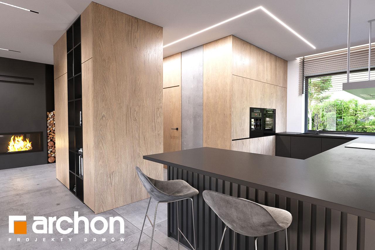 Проект будинку ARCHON+ Будинок в альвах 3 візуалізація кухні 1 від 2