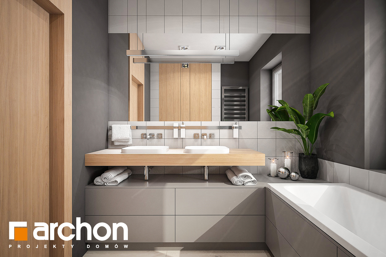 Проект будинку ARCHON+ Будинок в альвах 3 візуалізація ванни (візуалізація 3 від 1)
