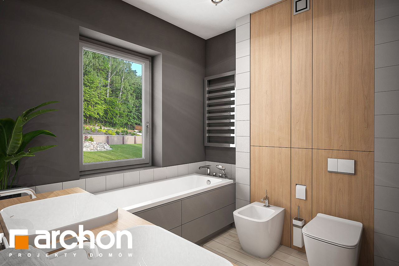 Проект будинку ARCHON+ Будинок в альвах 3 візуалізація ванни (візуалізація 3 від 2)