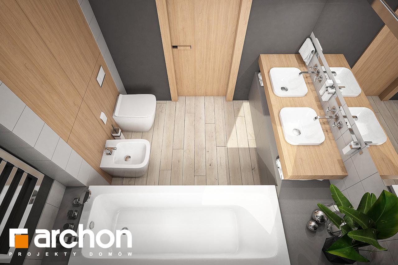 Проект будинку ARCHON+ Будинок в альвах 3 візуалізація ванни (візуалізація 3 від 4)