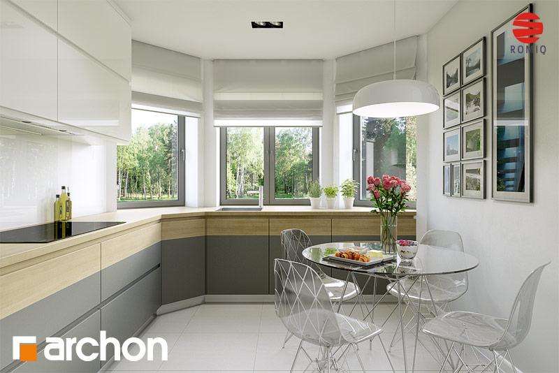 Проект дома ARCHON+ Дом в майоране 2 вер.2 аранжировка кухни 1 вид 1