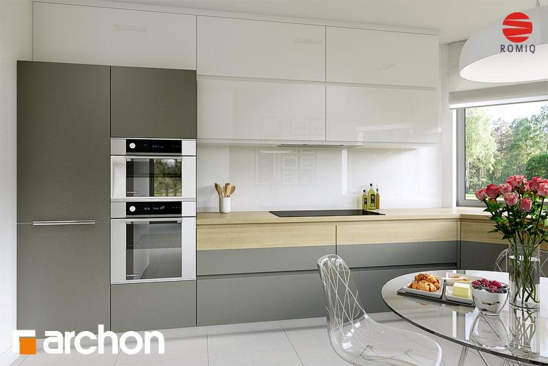 Проект дома ARCHON+ Дом в майоране 2 вер.2 аранжировка кухни 1 вид 3