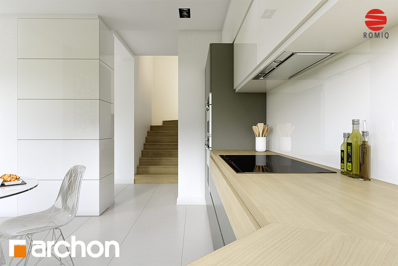 Проект дома ARCHON+ Дом в майоране 2 аранжировка кухни 1 вид 2