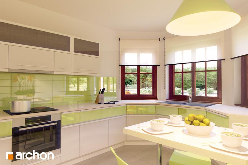 Проект дома ARCHON+ Дом в майоране 2 вер.2 визуализация кухни 1 вид 1