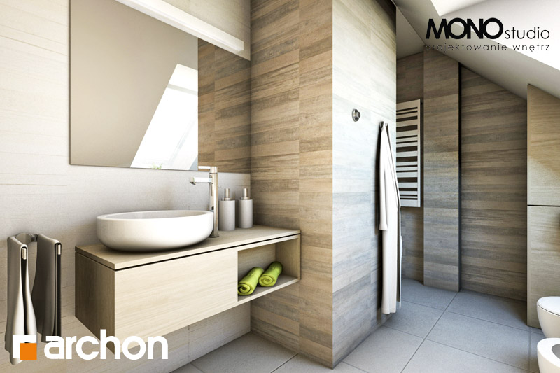 Проект будинку ARCHON+ Будинок в майорані 2 вер.2 візуалізація ванни (візуалізація 1 від 2)