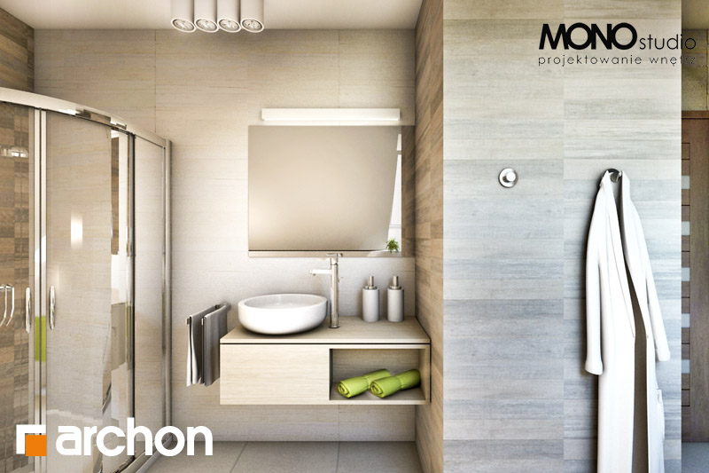 Проект дома ARCHON+ Дом в майоране 2 вер.2 визуализация ванной (визуализация 1 вид 4)
