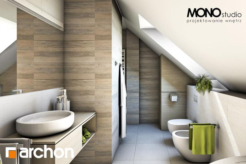 Проект дома ARCHON+ Дом в майоране 2 визуализация ванной (визуализация 1 вид 1)