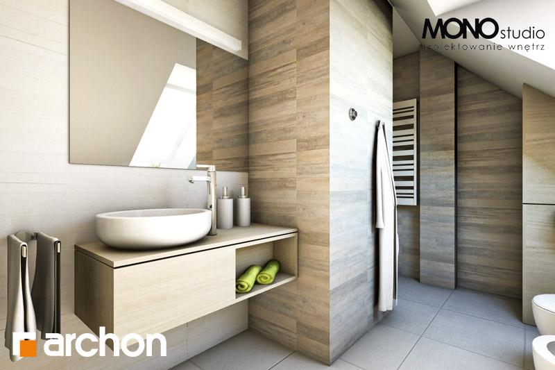 Проект дома ARCHON+ Дом в майоране 2 визуализация ванной (визуализация 1 вид 2)