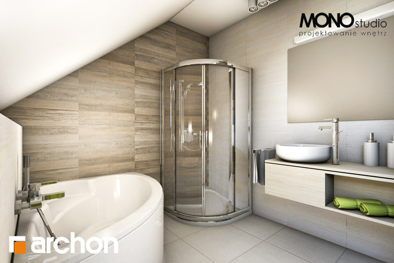 Проект дома ARCHON+ Дом в майоране 2 визуализация ванной (визуализация 1 вид 3)