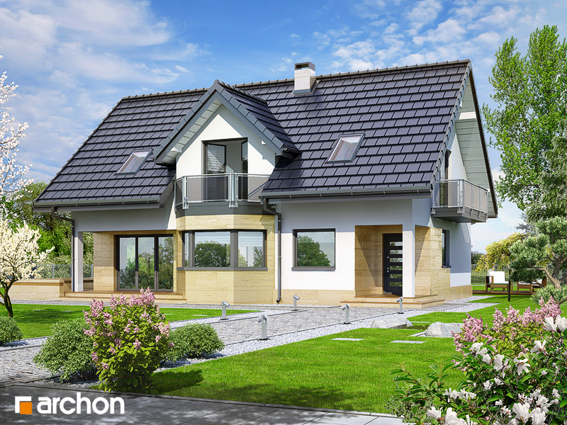 Проект дома ARCHON+ Дом в майоране 2 вер.2 стилизация 3