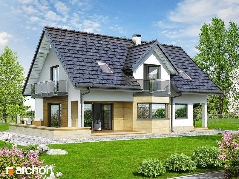 Проект дома ARCHON+ Дом в майоране 2 стилизация 4