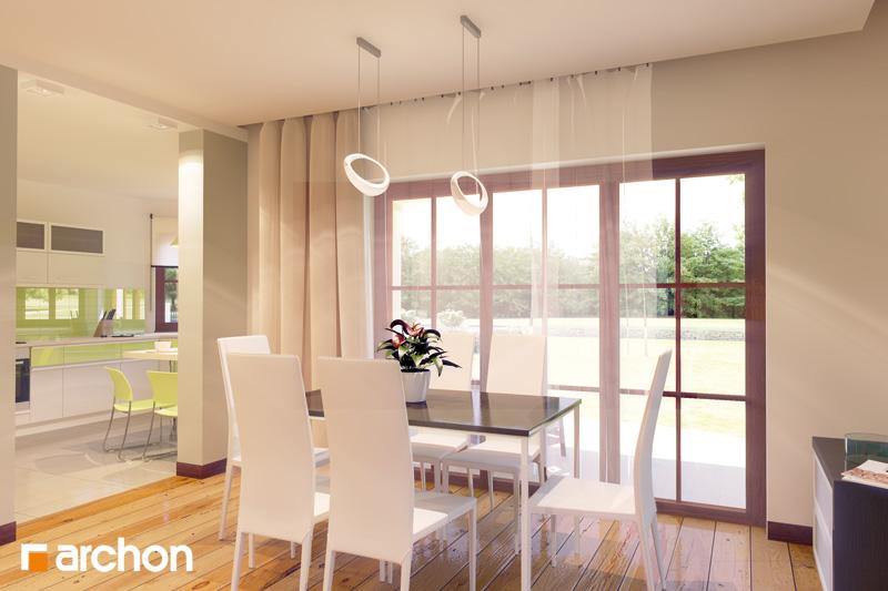 Проект дома ARCHON+ Дом в майоране 2 вер.2 дневная зона (визуализация 2 вид 2)