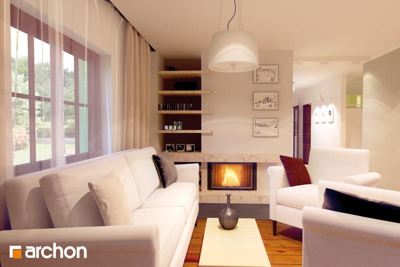 Проект дома ARCHON+ Дом в майоране 2 дневная зона (визуализация 2 вид 1)