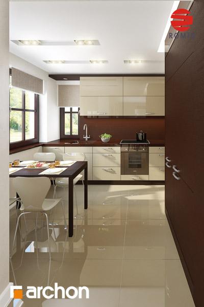 Проект будинку ARCHON+ Будинок в абрикосах аранжування кухні 1 від 1