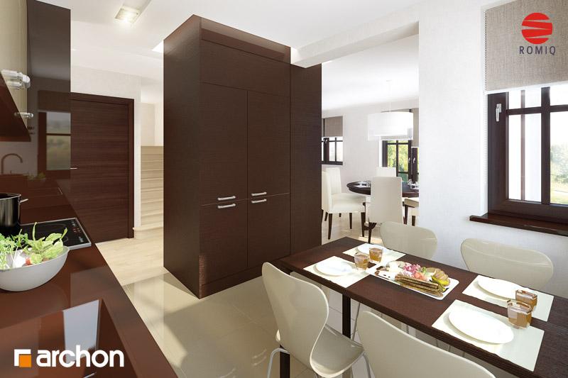 Проект будинку ARCHON+ Будинок в абрикосах аранжування кухні 1 від 2