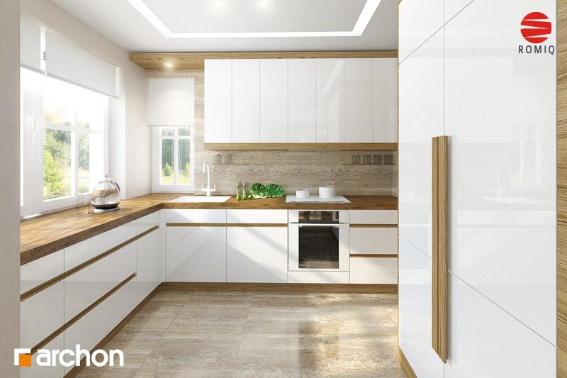 Проект будинку ARCHON+ Будинок в абрикосах аранжування кухні 2 від 1